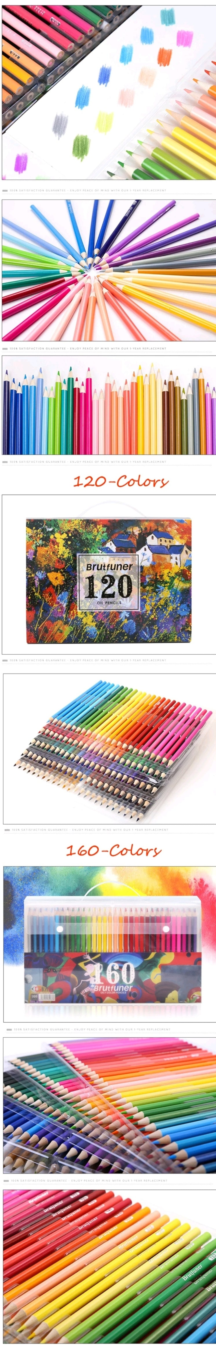 Assorted color pencils set of 120 and 160
