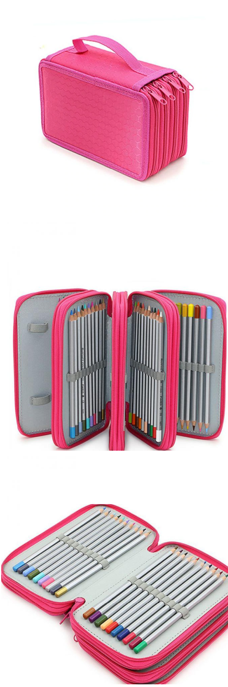 Canvas Pencil Case Orgnaizer Many Layers Suitcase - Otrio Stationery & Gifts