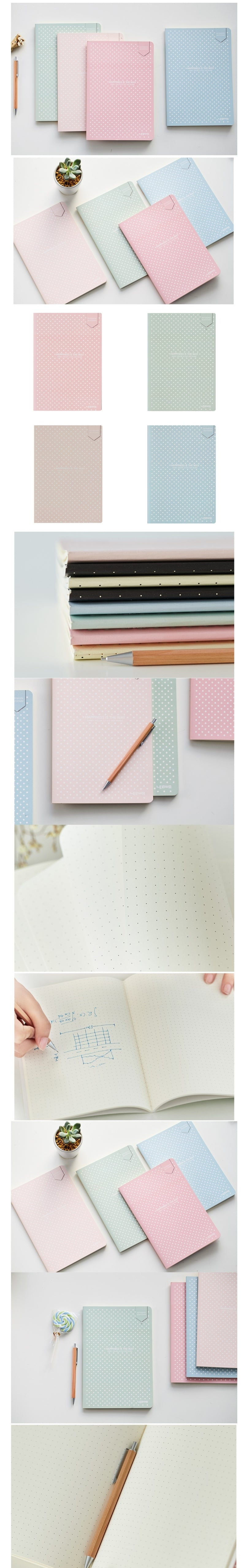 Pastel Colored Dotted Bullet Journals - Otrio Stationery