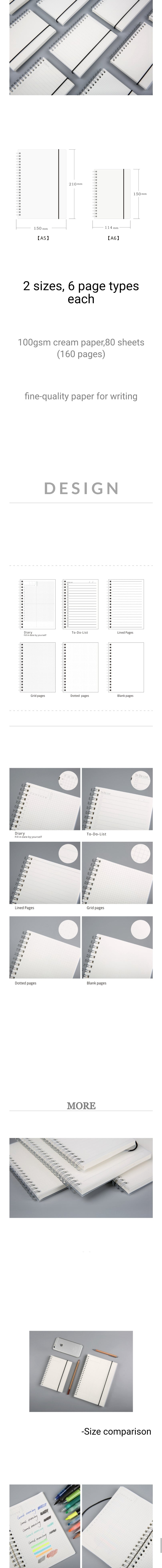 A5 A6 Spiral Bound Notebook - Otrio Stationery