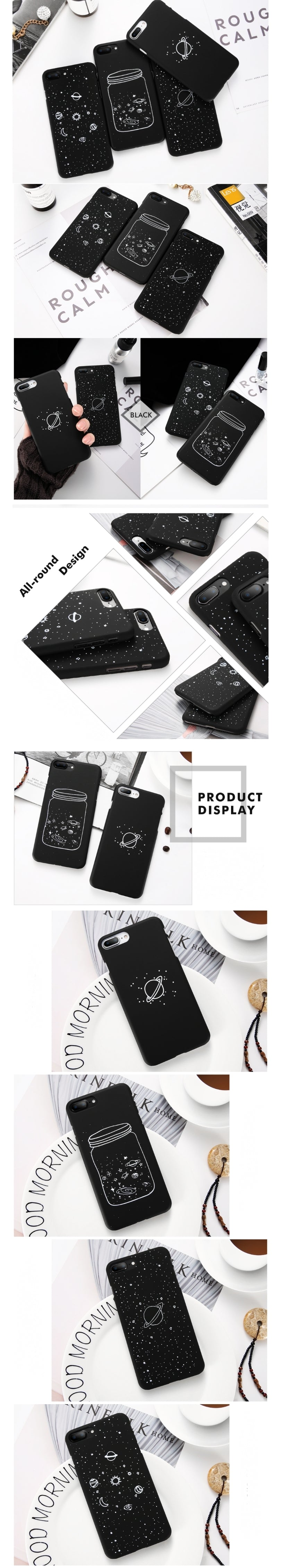 Galaxy Matte iPhone Cases - Otrio Stationery - Black Matte - Galaxy & Stars & Planets