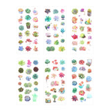 Cute Succulent Stickers: 6 Sheets Included!