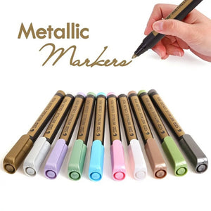 STA Metallic Permanent Marker Set of 10