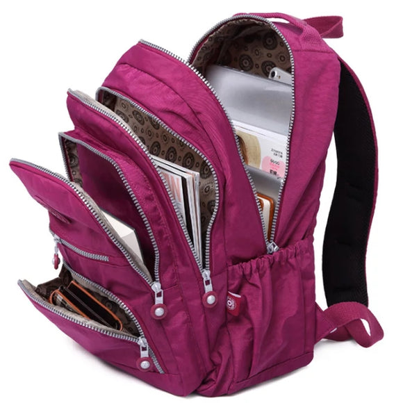 Multiple Layers Travel Backpack: 12 colors