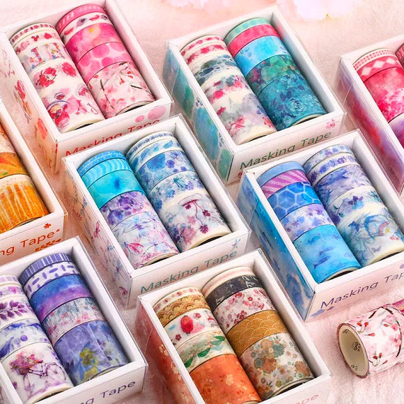 Aesthetic Nature Washi Tape: Set of 10