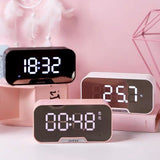 Multifunction Alarm Clock and Speaker: 4 colors