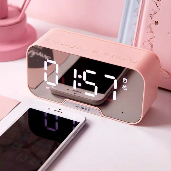 Multifunction Alarm Clock and Speaker: 5 colors