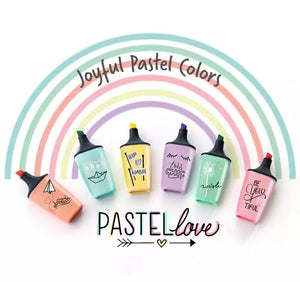 Set of 6 STABILO Boss Mini Pastel Love Highlighters