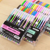 Colorful Gel Pen Set: 12 till 48 neon, glitter, pastel, and metallic colors