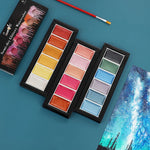 Metallic Watercolor Paint Set: 18 Colors