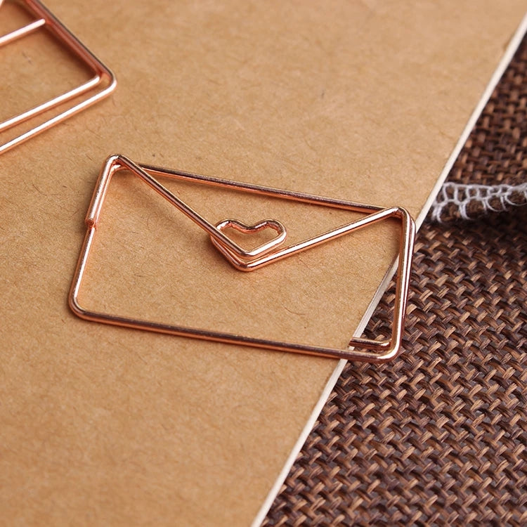 Rose Gold Paper Clip: Set of 20
