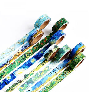 Van Gogh Painting Washi Tape Series: Set of 8