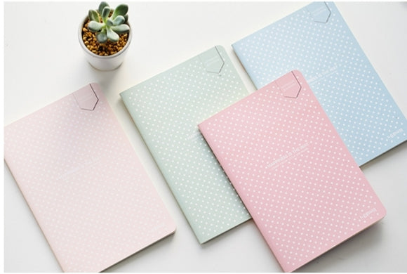 Pastel Colored Bullet Journals: Dotted Pages