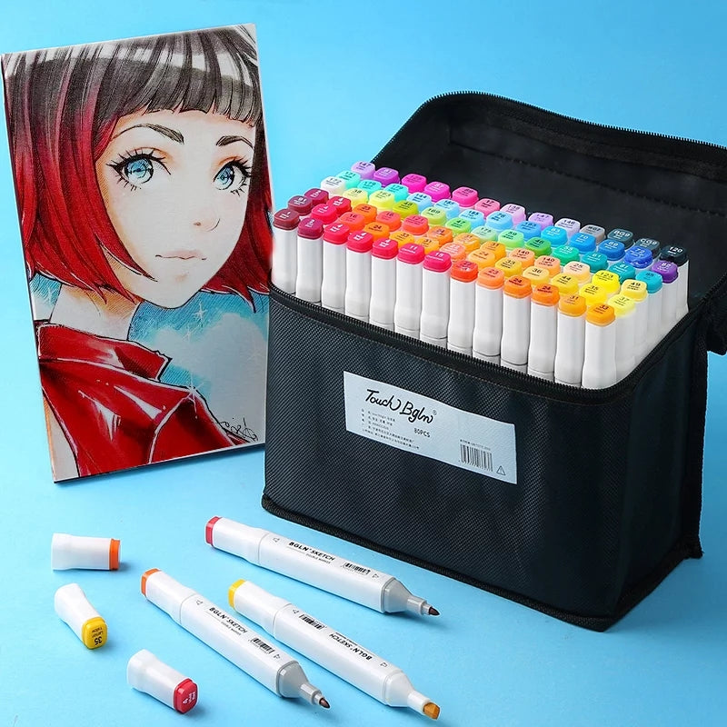 TOUCHFIVE Double Headed Marker Set: Includes colorless blender, white gel pen & more!