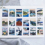 Japanese Scenery Sticker Pack: 45pcs