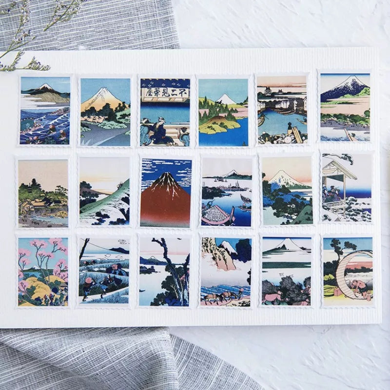 Japanese Scenery Sticker Pack: 45pcs – Otrio Stationery & Gifts
