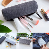 MUJI Style Felt Pencil Case