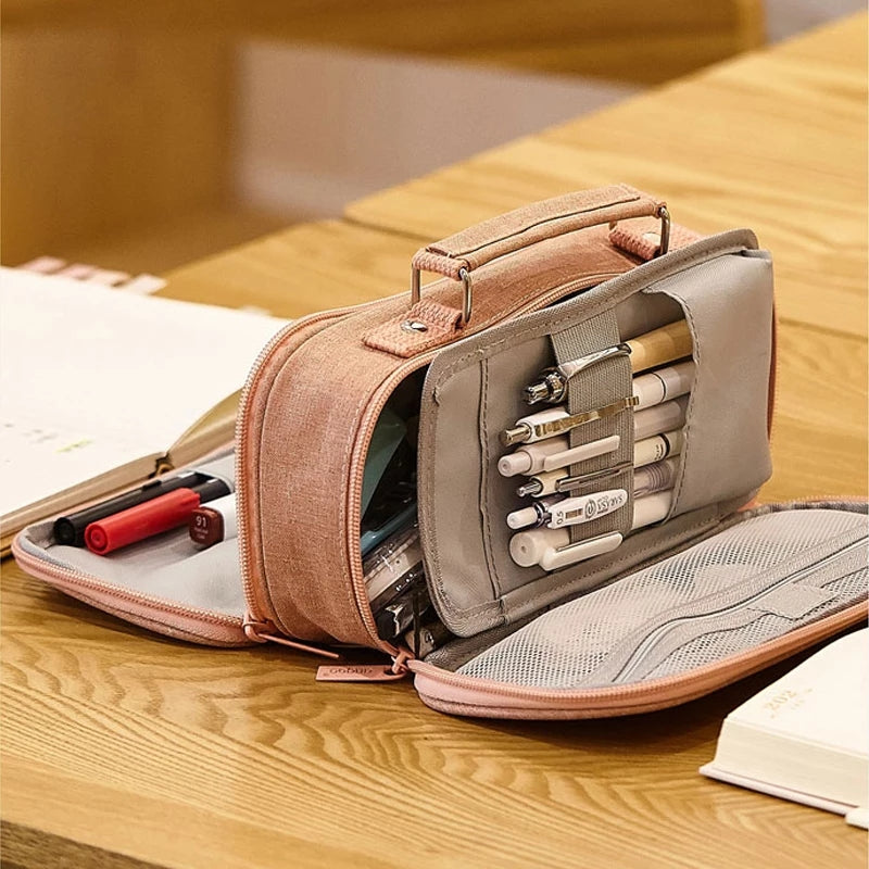 Multilayer Large Pencil Case: 4 colors