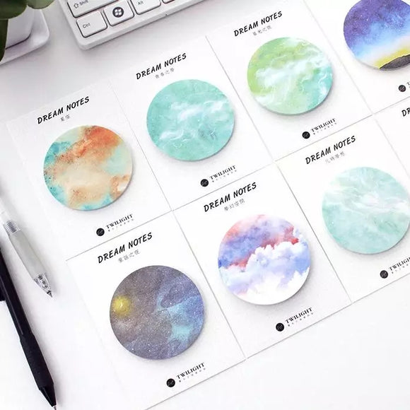 Galaxy Dream Sticky Note: 7 designs to choose from!