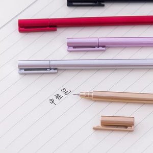 MUJI Style Metallic Gel Pens: Set of 5
