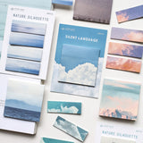 Aesthetic Nature Sticky Notes: 8 designs