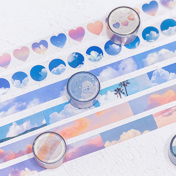 Aesthetic Clouds Washi Tapes: 6 designs