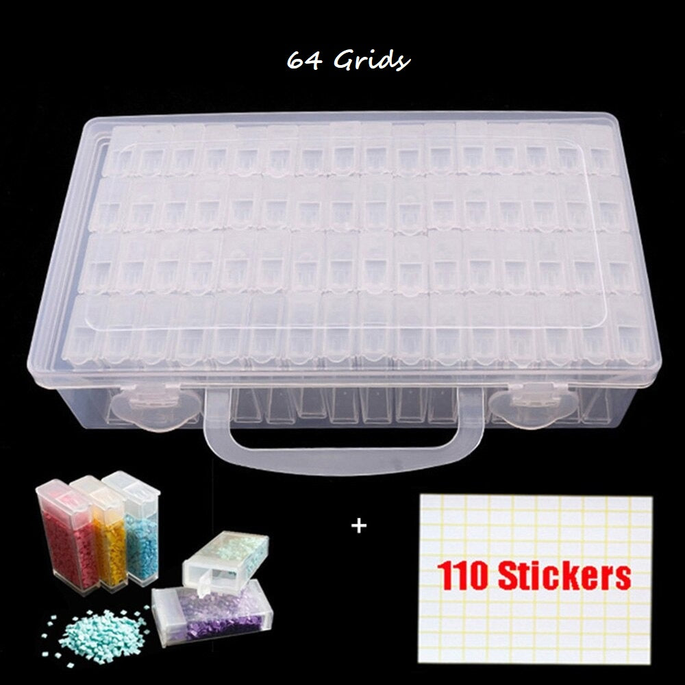 Grid Storage Box + Tools For Diamond Painting