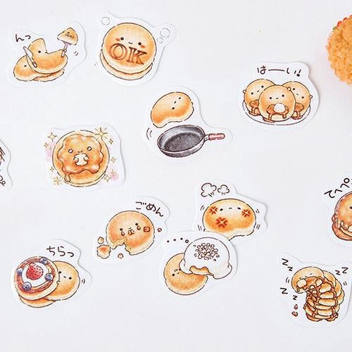 Cute Pancakes Sticker Set