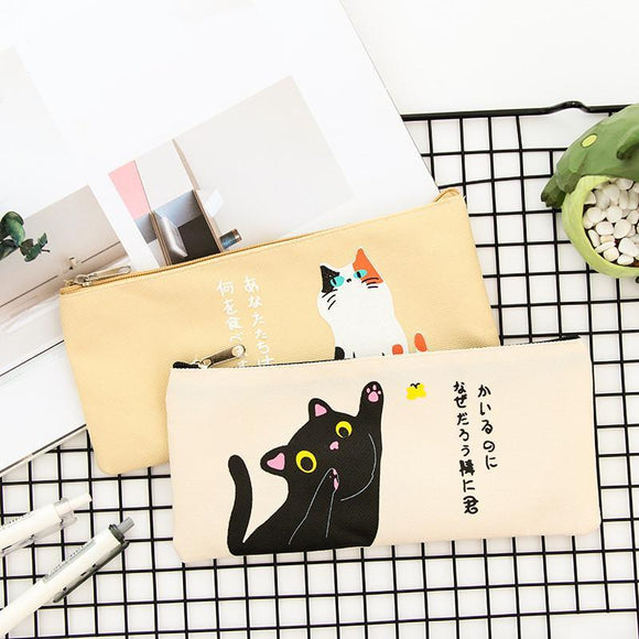 Cute Japanese Cat Pencil Case