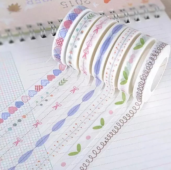 Set of 10 Chic Border Washi Tapes