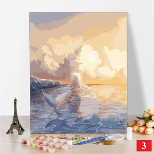 Paint by Number Kit: 20 aesthetic clouds & other scenery!
