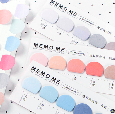 "Gradient ""Memo Me"" Sticky Notes"