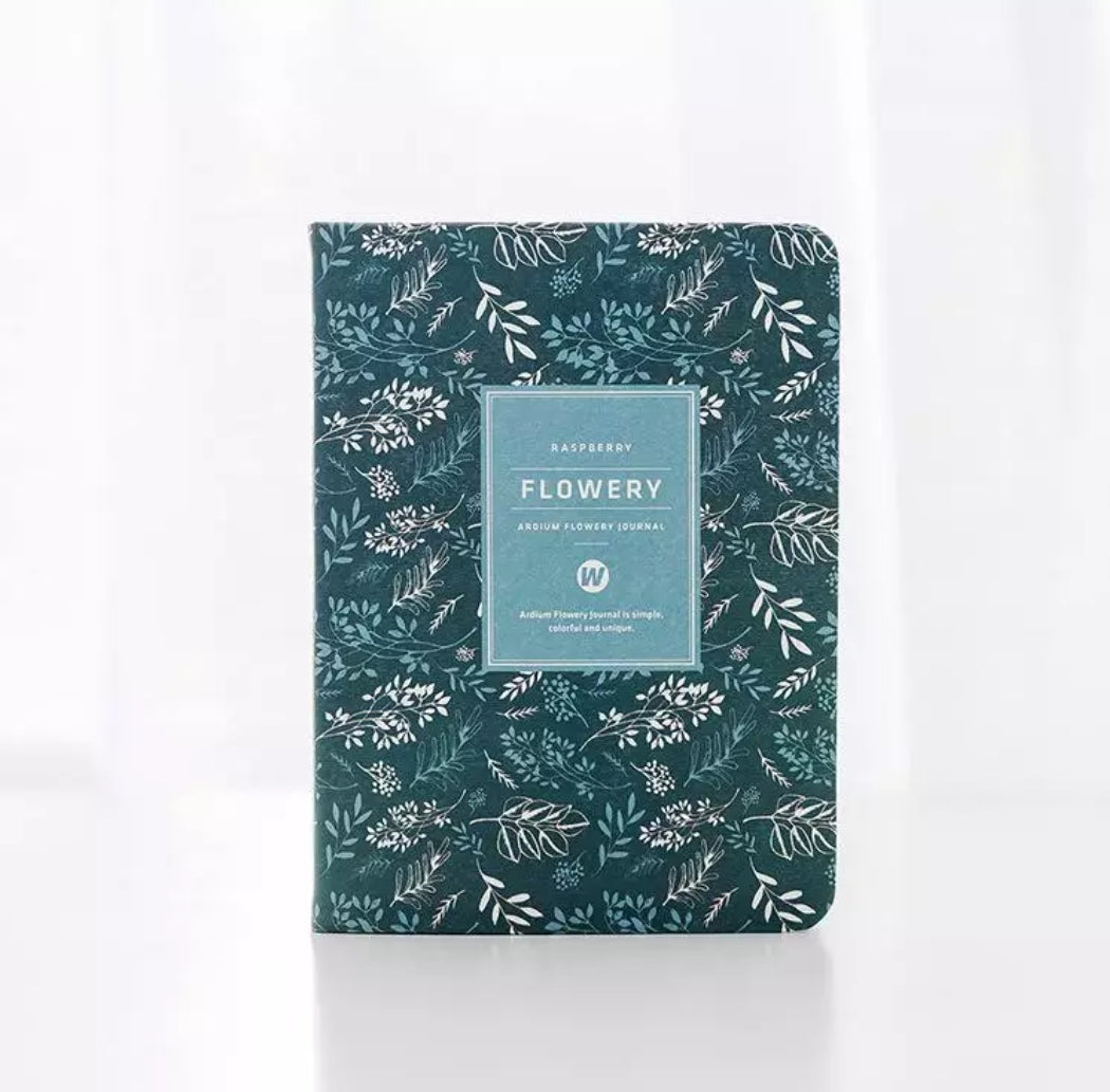 Vintage Flowery Leather Planner