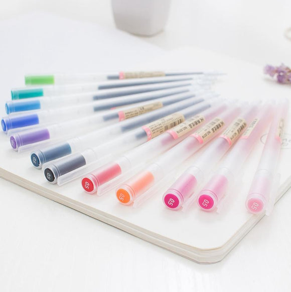 MUJI Style Gel Pens: Set of 12