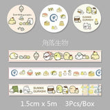Sumikko Gurashi Washi Tape: Set of 3 Cuteness Overload!