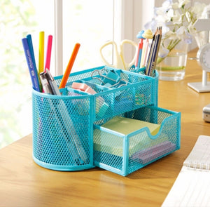Sleek Metal Stationery Organizer: Available in 4 Colors!