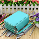 Leather Pencil Case Organizer: 72, 124, 168, 184 slots!