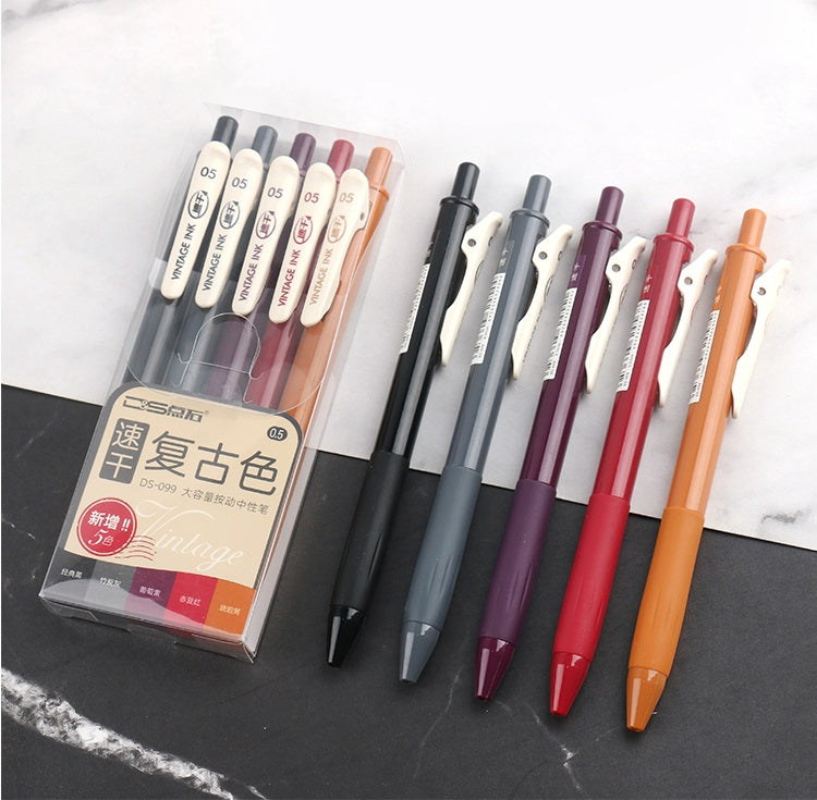 Vintage Sarasa Gel Pen Series: Set of 5