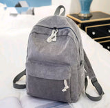 Corduroy Fashion Backpack: 7 colors