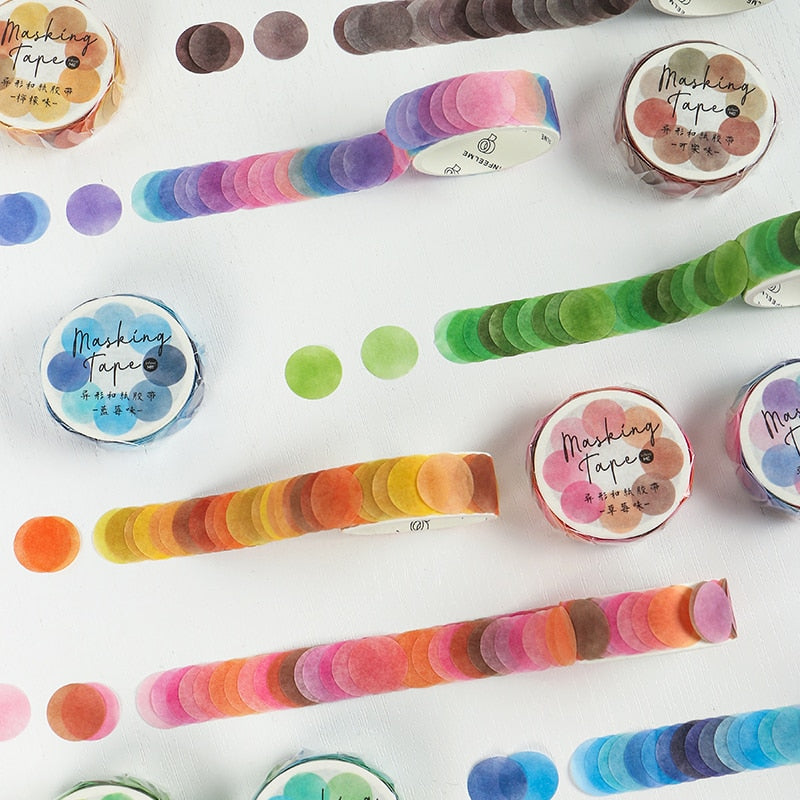 Dots Washi Tape Petals: 8 colors