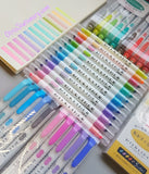 "Set of 12 Japanese ""Milkliner"" Style Double-Headed Highlighters"