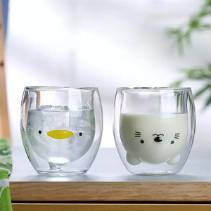 Cute Double Wall Glass: 6 designs