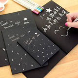 Black Paper Bullet Journal: Soft Cover