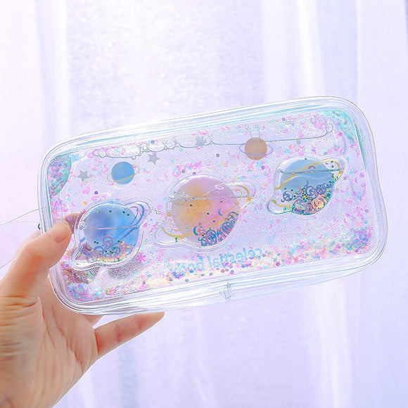 Clear Galaxy Pencil Pouch: 8 styles