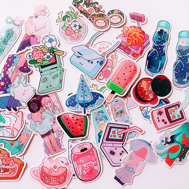 Kawaii Aesthetic Stickers: 70 or 190pcs