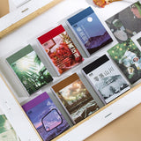 Retro Lifestyle Stickers: 6 color themes