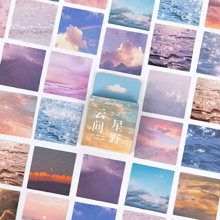 Aesthetic Scenery Stickers: 46pcs
