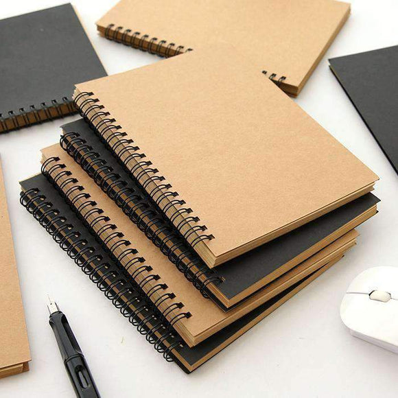 Classic Retro Sketchbook: Thick Blank Paper