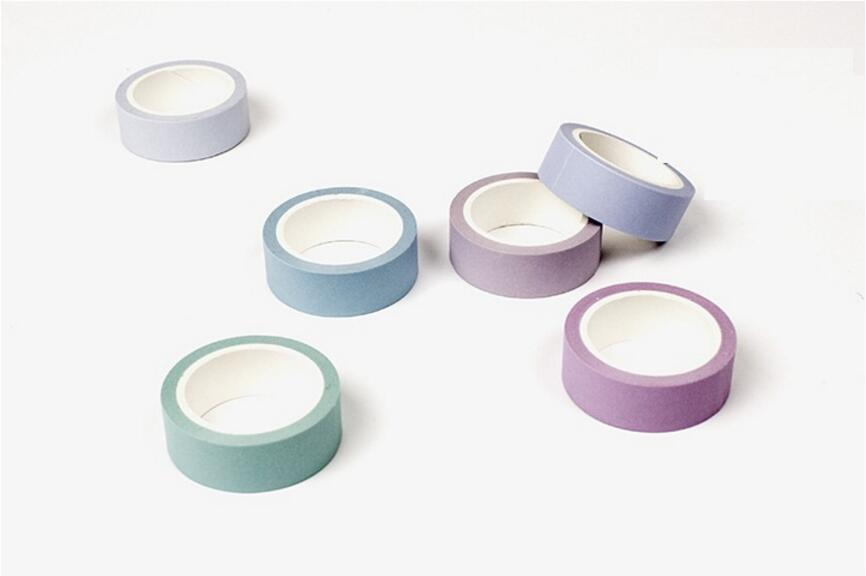 Pastel Washi Tapes: Set of 6 or 12