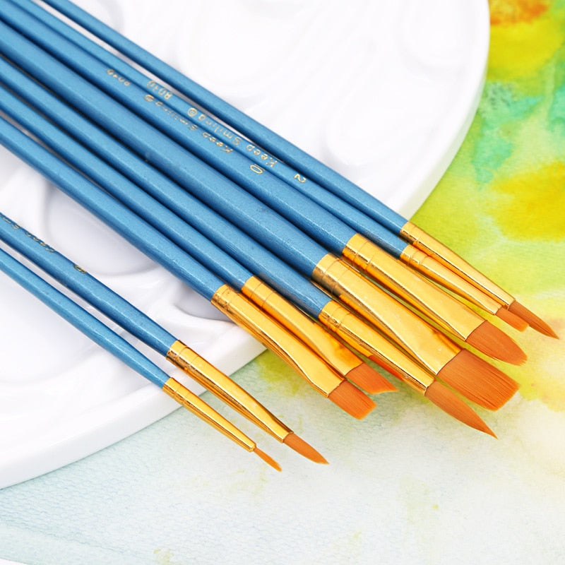 Classic Paint Brushes: Set of 10